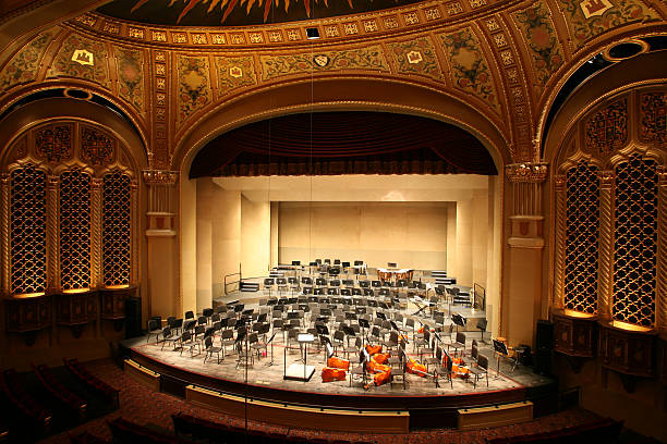 classical music concert hall - classical style stock photos and pictures