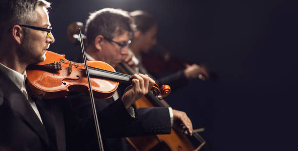 Classical music concert performance stock photo