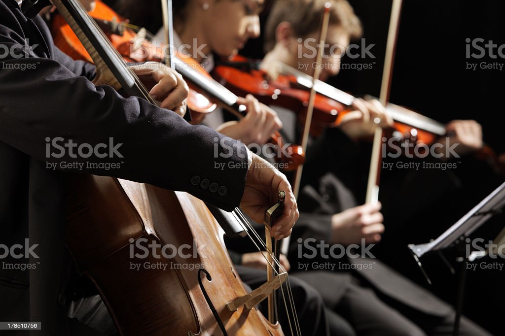 Classical music concert stock photo
