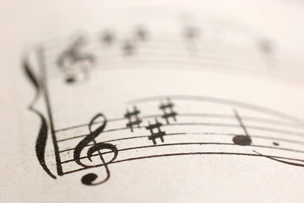 muzyka poważna - pięciolinia zdjęcia i obrazy z banku zdjęć