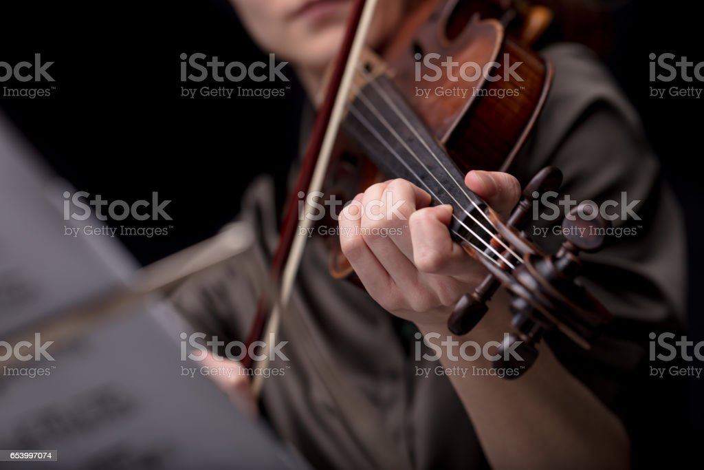 classical music player over a dark background stock photo