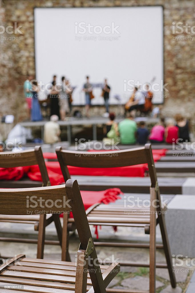 Classical music rehearsal royalty-free stock photo