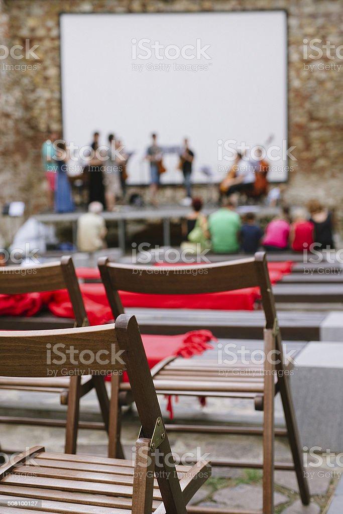 Classical music rehearsal stock photo
