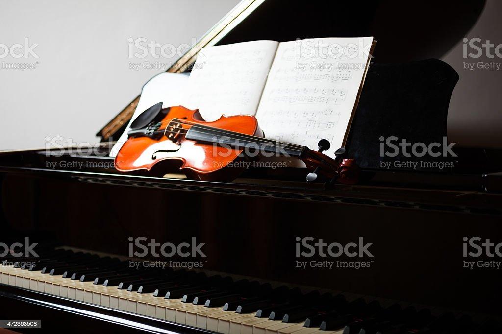 Classical music scene stock photo