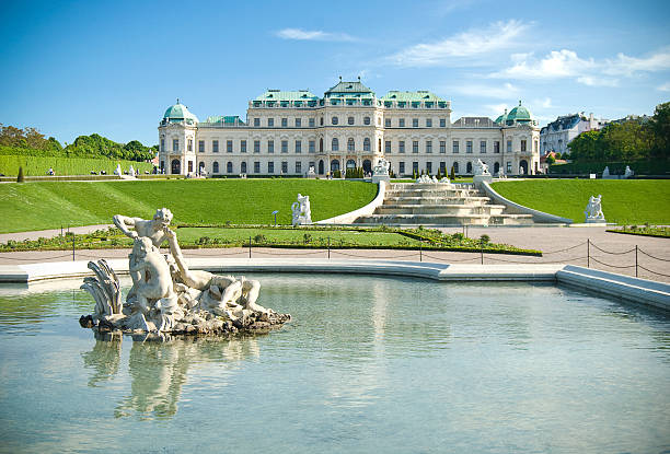 classical palace building - vienna stock photos and pictures