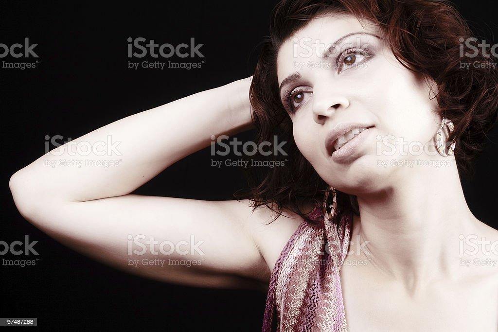 Classical portrait of elegant sensual woman royalty-free stock photo