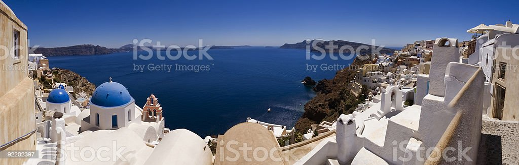 Classical santorini view royalty-free stock photo