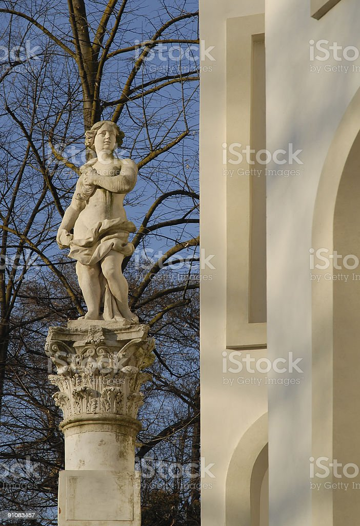 Classical Sculpture in an old Italian mansion park royalty-free stock photo