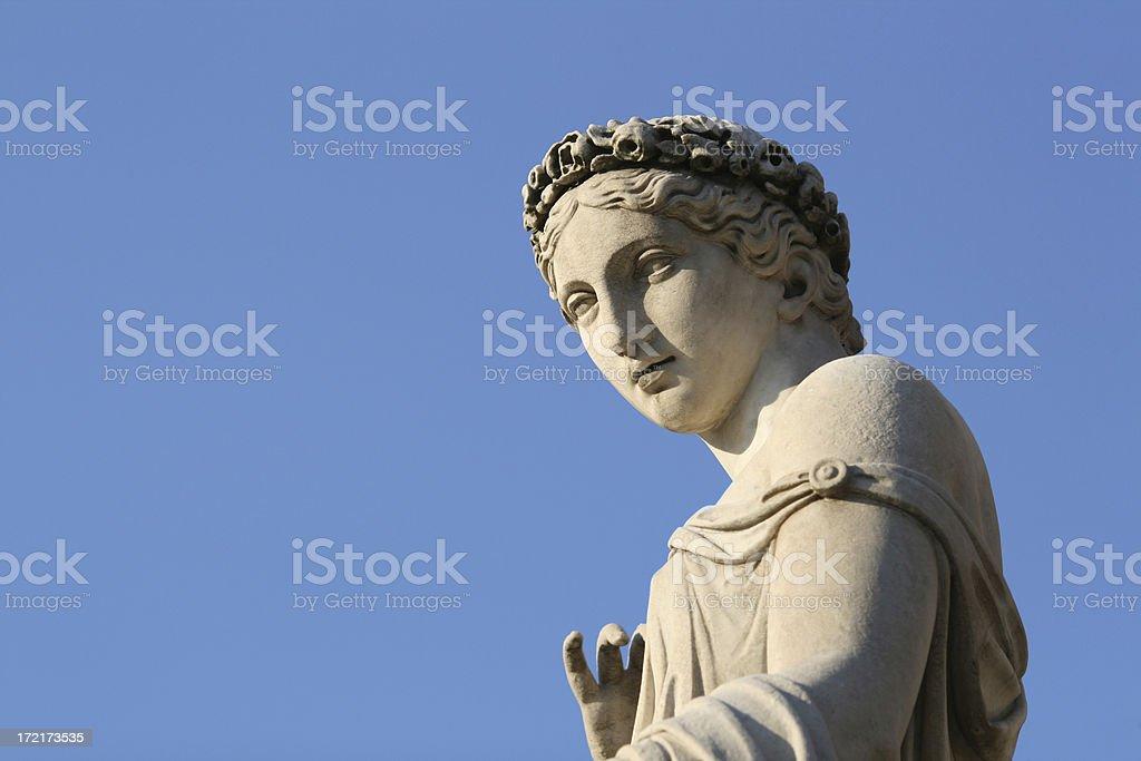 Classical sculpture of a women stock photo