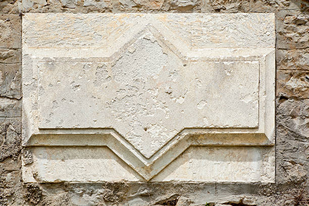 Classical Stone Detail Background Plaque stock photo