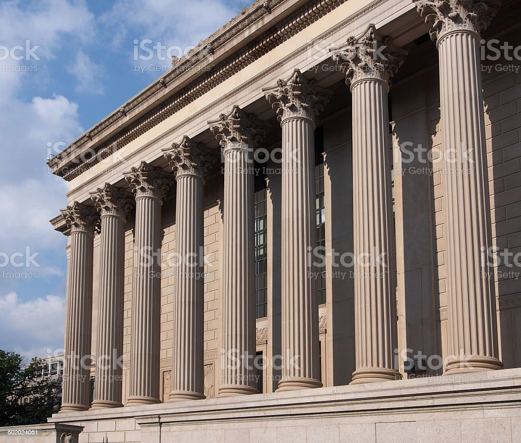 classical style building stock photo