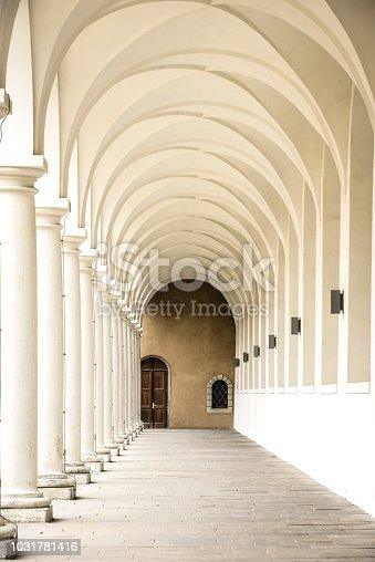 Classical Style Colonnade Tunnel
