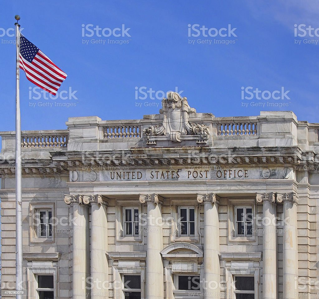classical style post office stock photo