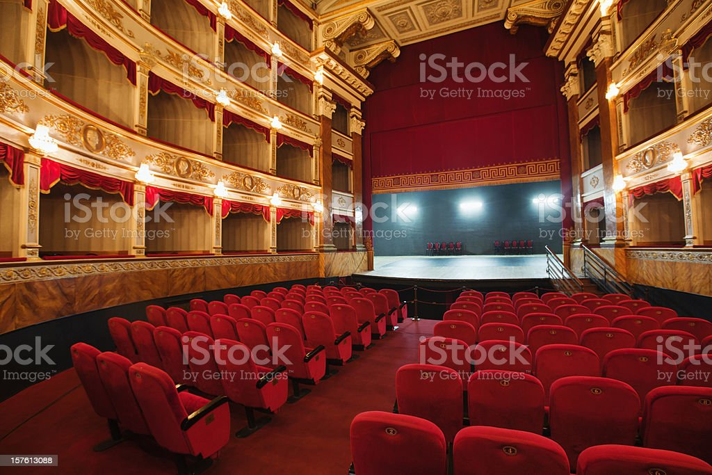 classical theatre in Europe stock photo