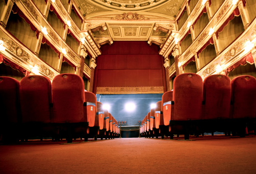 Classical Theatrean old fashioned beautiful theatre in Italy