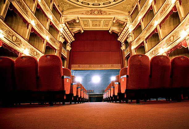 Classical Theatre Classical Theatrean old fashioned beautiful theatre in Italy theatrical performance stock pictures, royalty-free photos & images