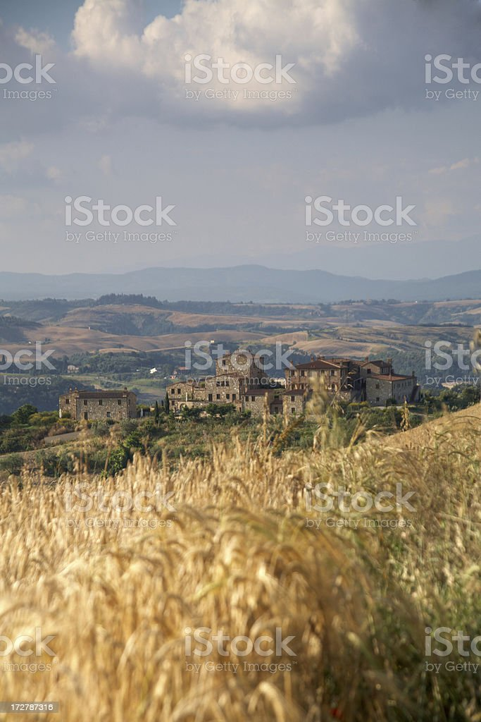 Classical tuscan village royalty-free stock photo