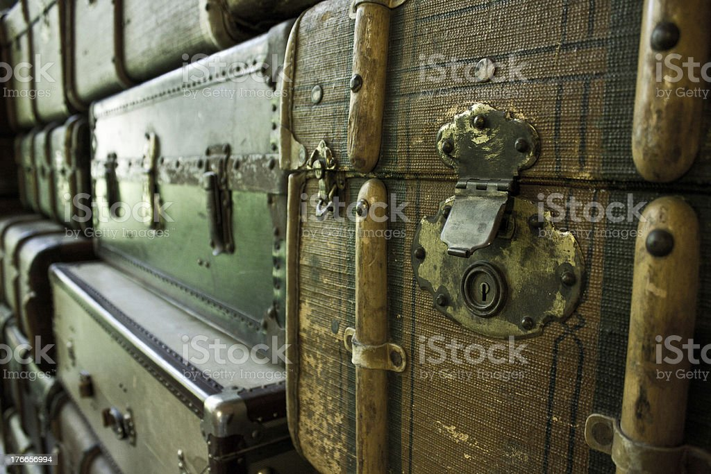 Classical vintage suitcases royalty-free stock photo