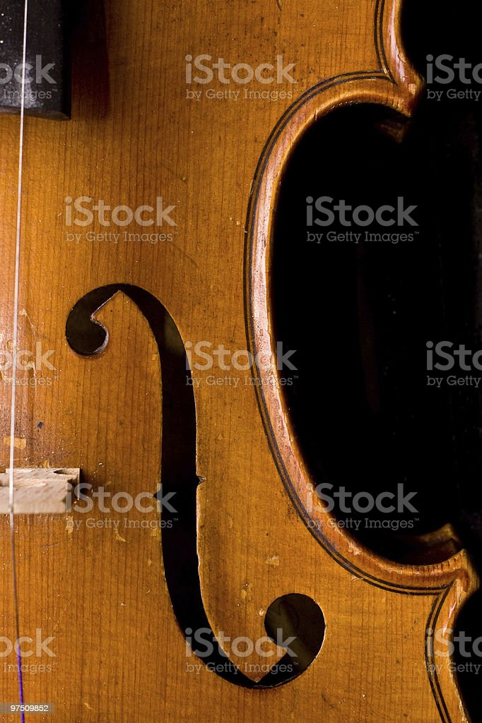 Classical violin detail close up. royalty-free stock photo
