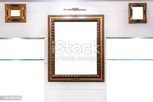 istock Classical Wooden Frames Mock up 1007850336