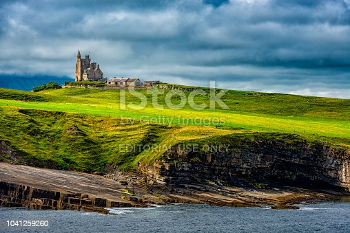 Cliffoney, Ireland - August 04, 2018: Classiebawn Castle in Ireland. Located on Mullaghmore Head in County Sligo. Mostly of the castle was built in 19. century.