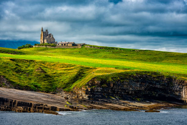 classiebawn castle in Ireland stock photo