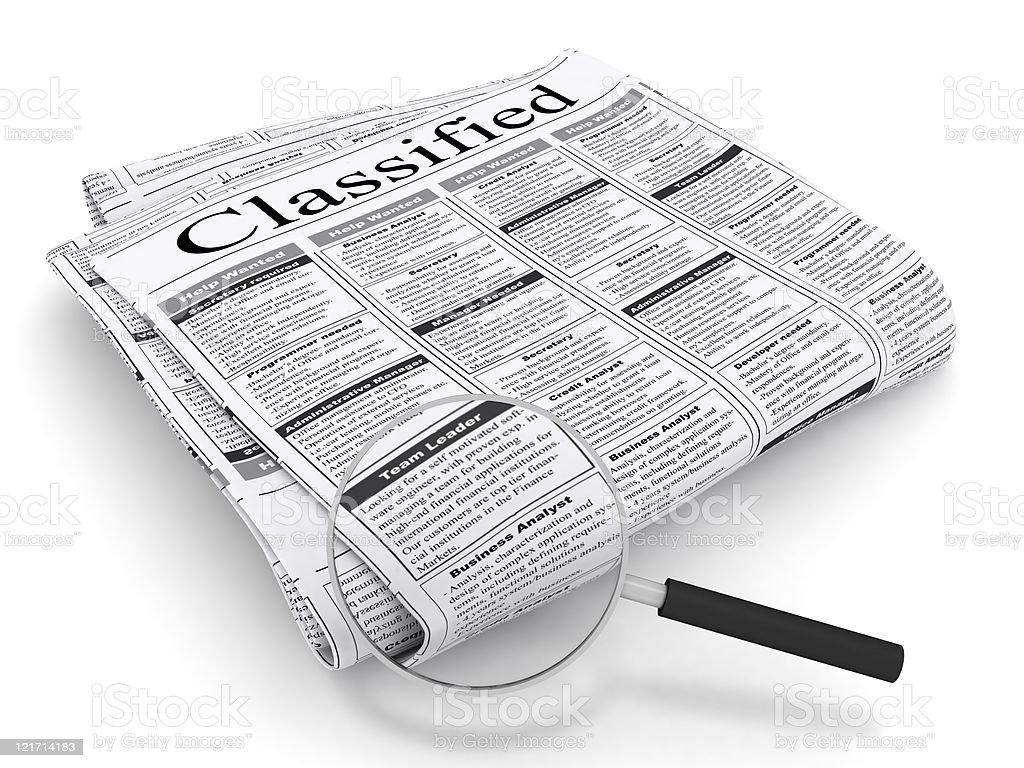 Classified Ad royalty-free stock photo