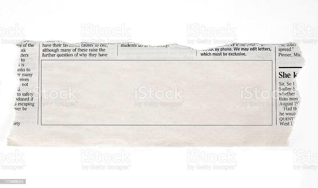 Classified ads royalty-free stock photo