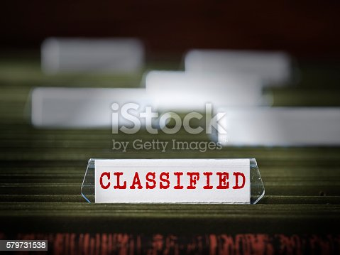 Top secret document file folder