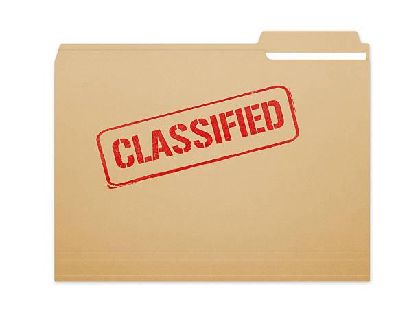 Classified Folder stock photo