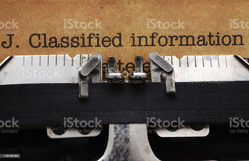 Classified information form royalty-free stock photo