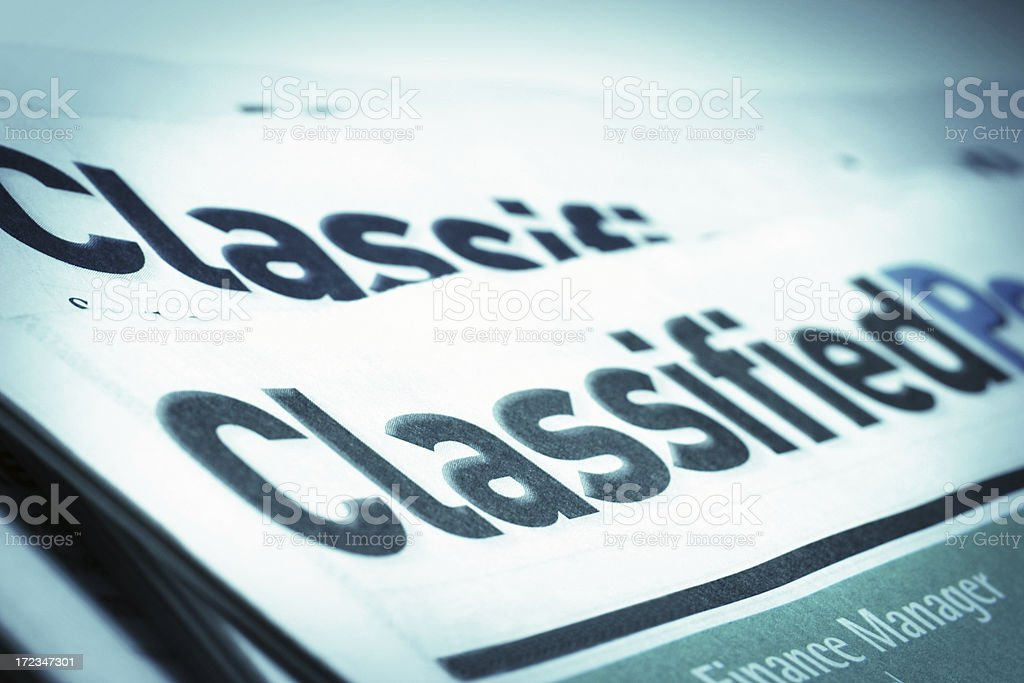 Classified Post royalty-free stock photo