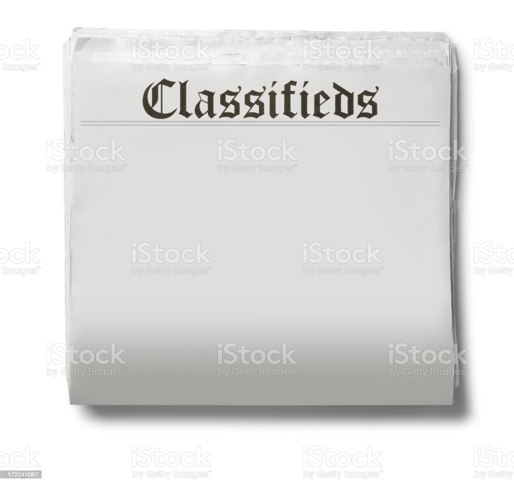 Classifieds royalty-free stock photo