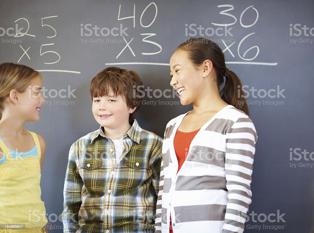 Classmates in discussion royalty-free stock photo