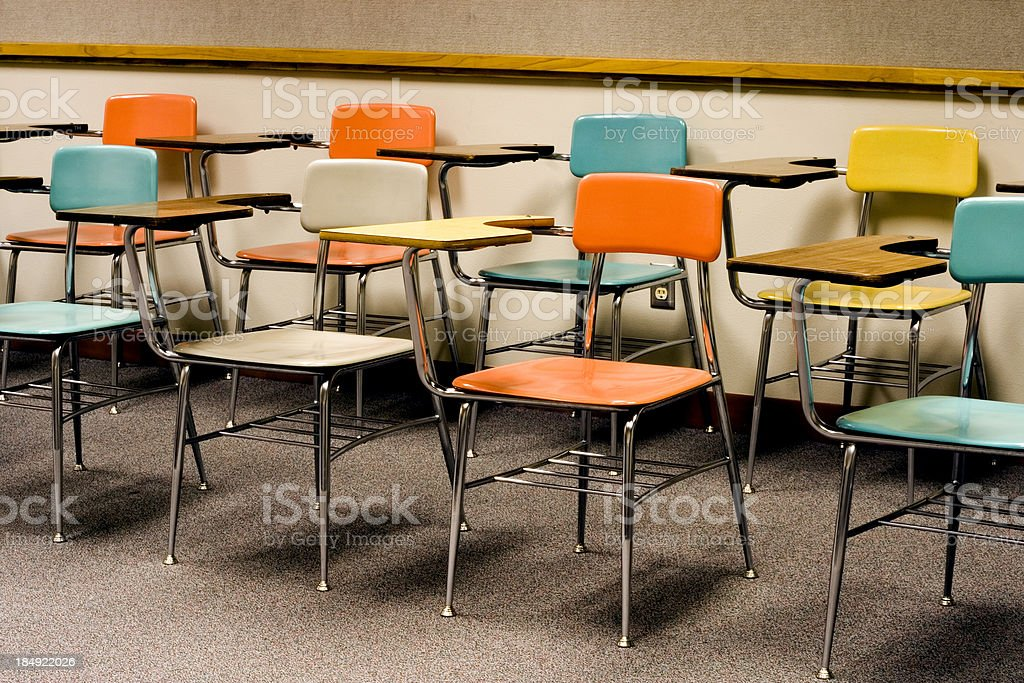 classroom chairs stock photo