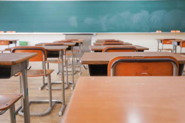 學校教室 - 無人 個照片及圖片檔