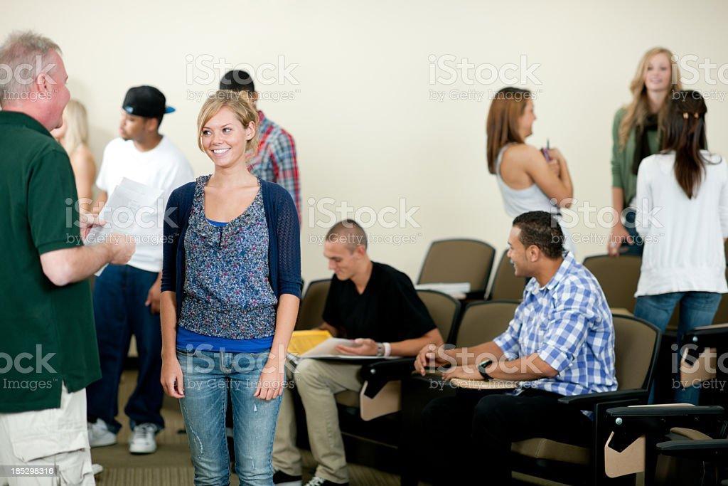 Classroom of Students stock photo