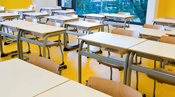 Classroom segment stock photo