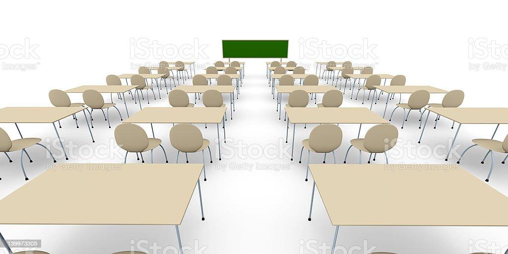 Classroom - Wide Angle royalty-free stock photo