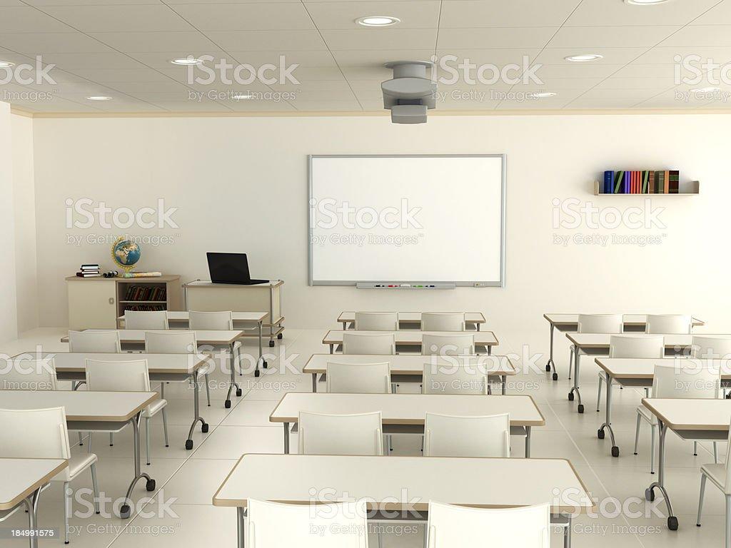 Sala de aula com Quadro branco interativo - foto de acervo