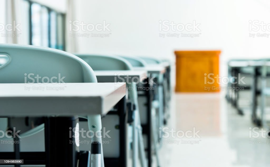 Classroom With Tables And Chairs Stock Photo Download Image Now Istock