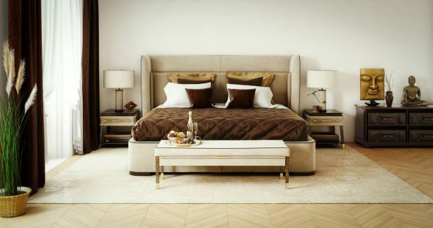 Classy Bedroom Interior stock photo