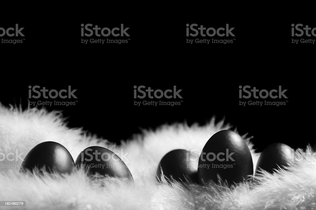Classy black tie Easter eggs royalty-free stock photo