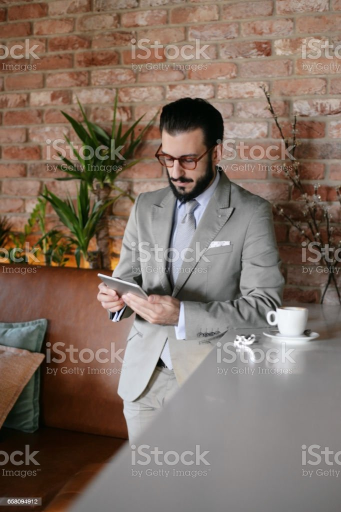 Classy business man on the phone royalty-free stock photo