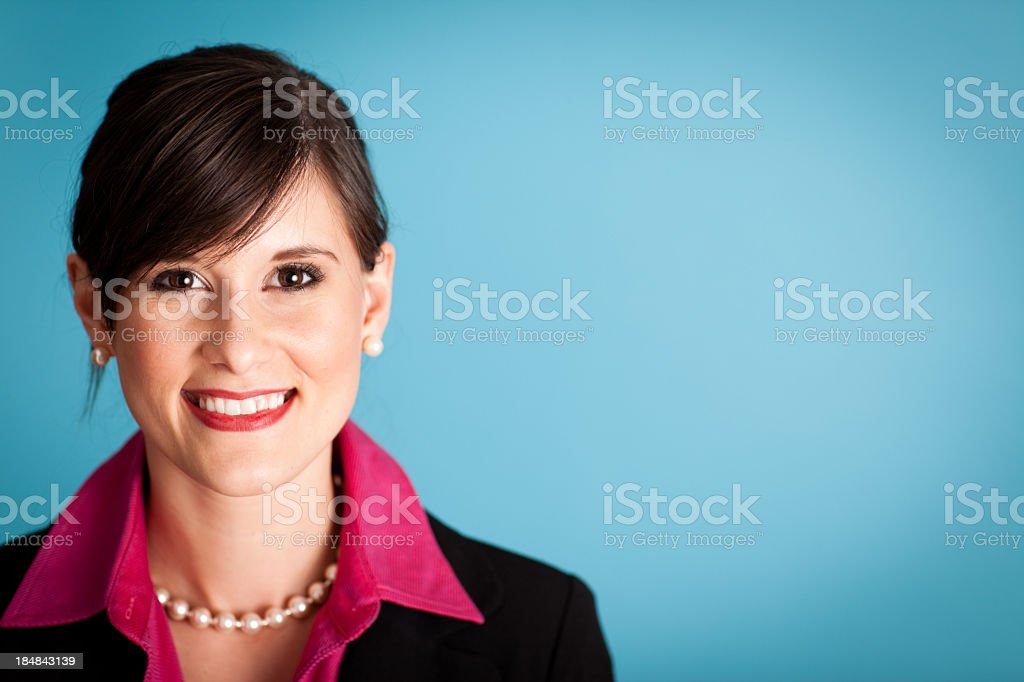 Classy Business Woman Looking at Camera, with Copy Space royalty-free stock photo