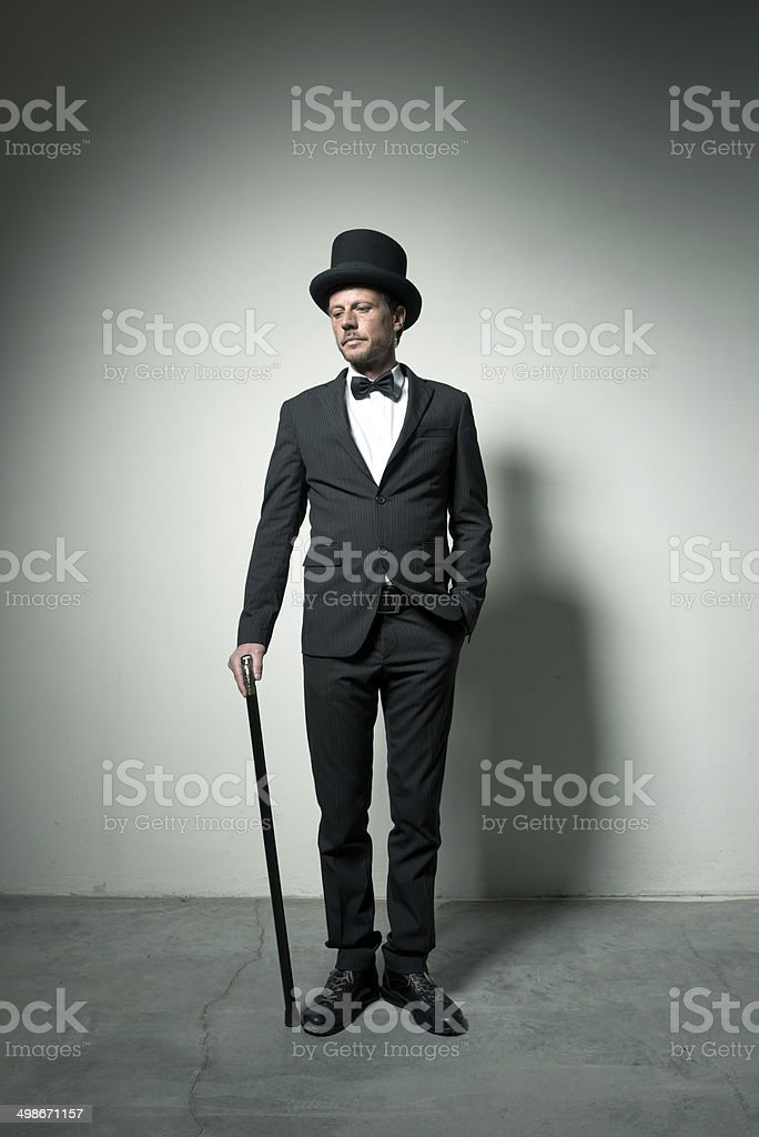 Classy gentleman stock photo