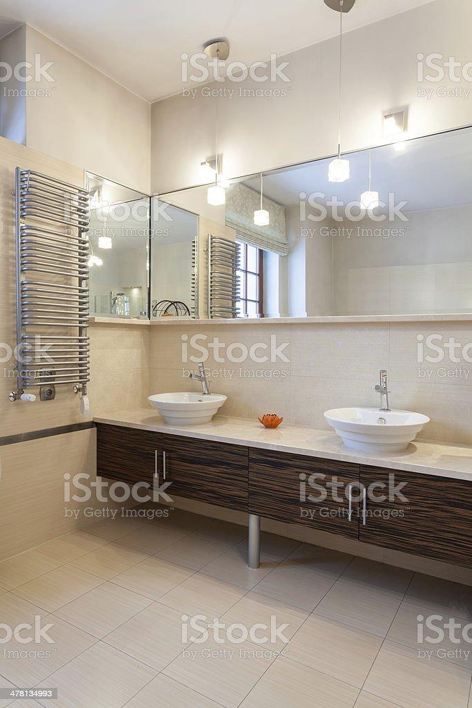 Classy house - double bathroom stock photo