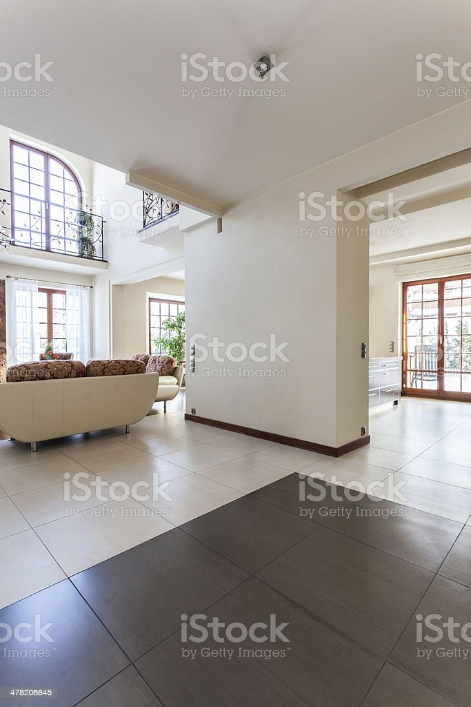 Classy house - interior stock photo