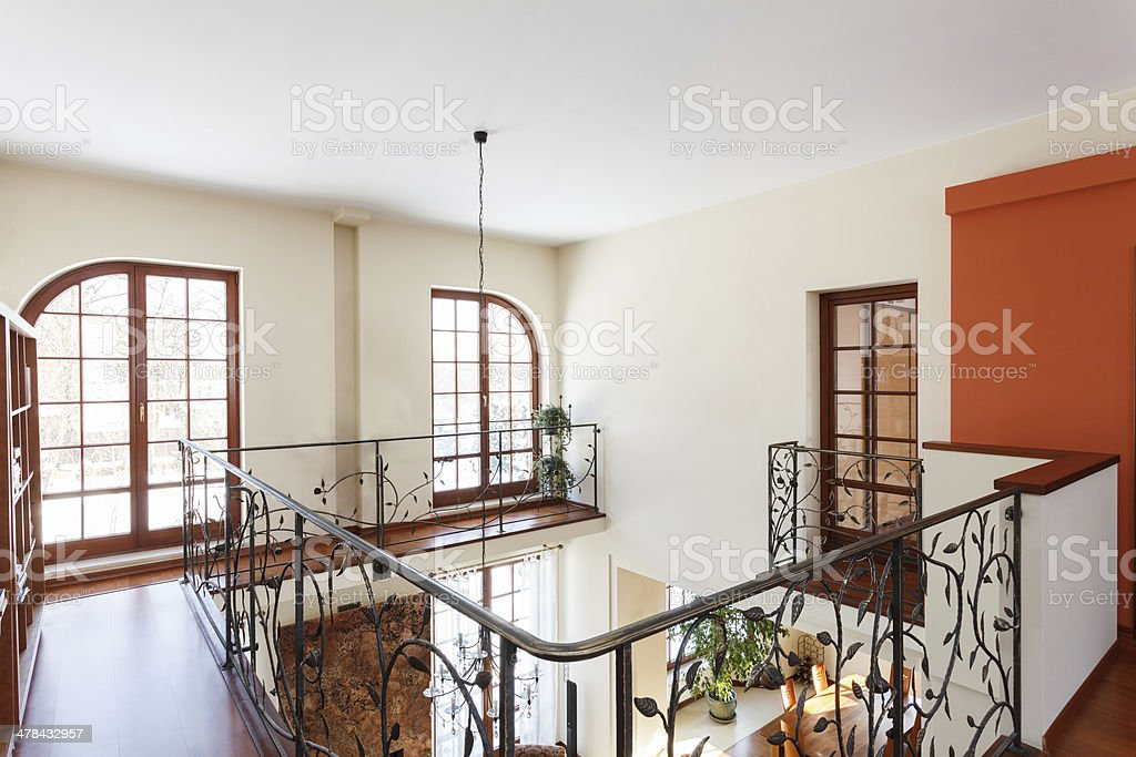Classy house - Mezzanine stock photo