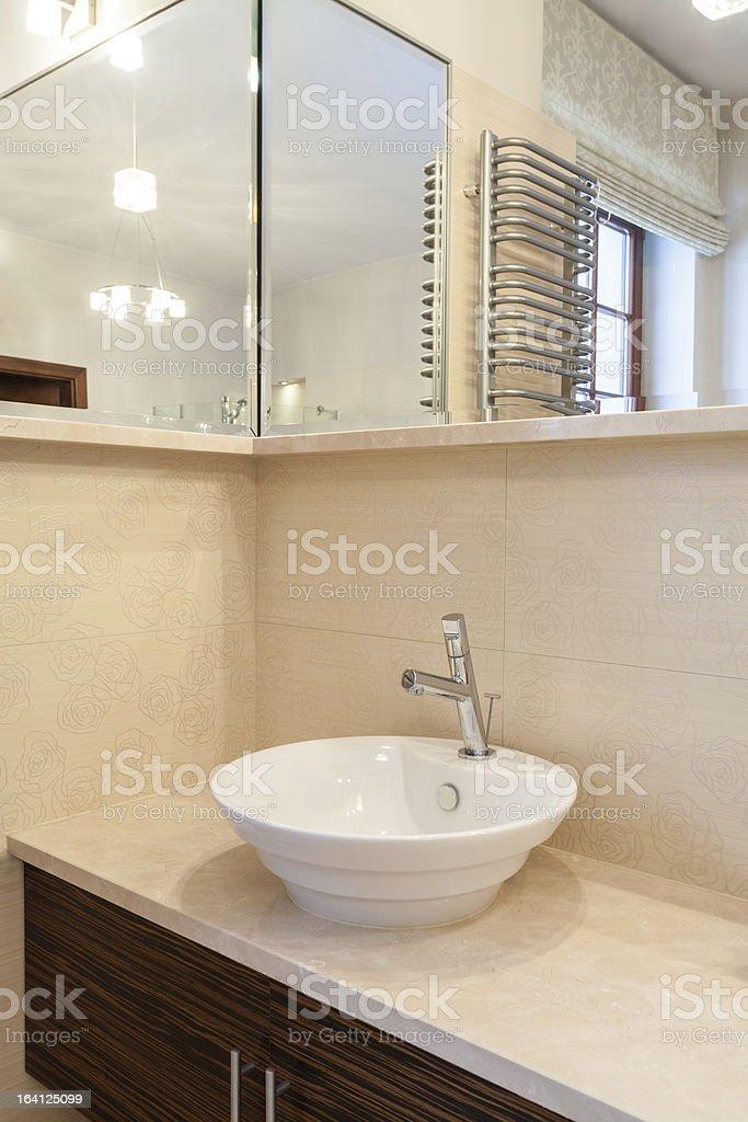 Classy house - vessel sink royalty-free stock photo